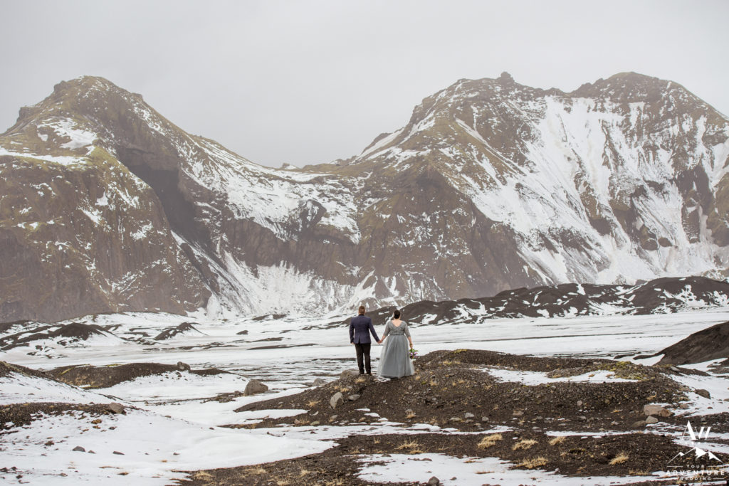 Snowy Winter Elopement in Iceland Photos