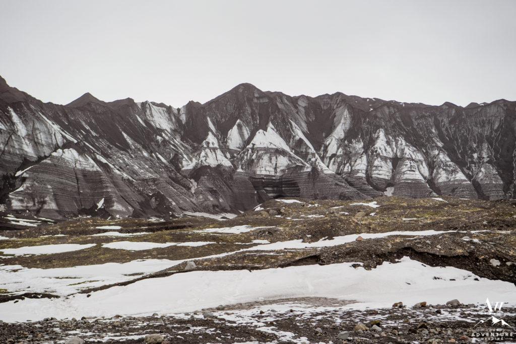Iceland Black Glacier during an April Elopement Adventure