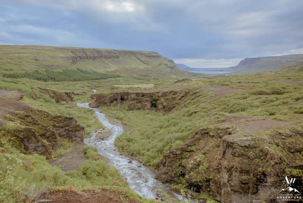 Iceland Wedding Glymur Waterfall Hike