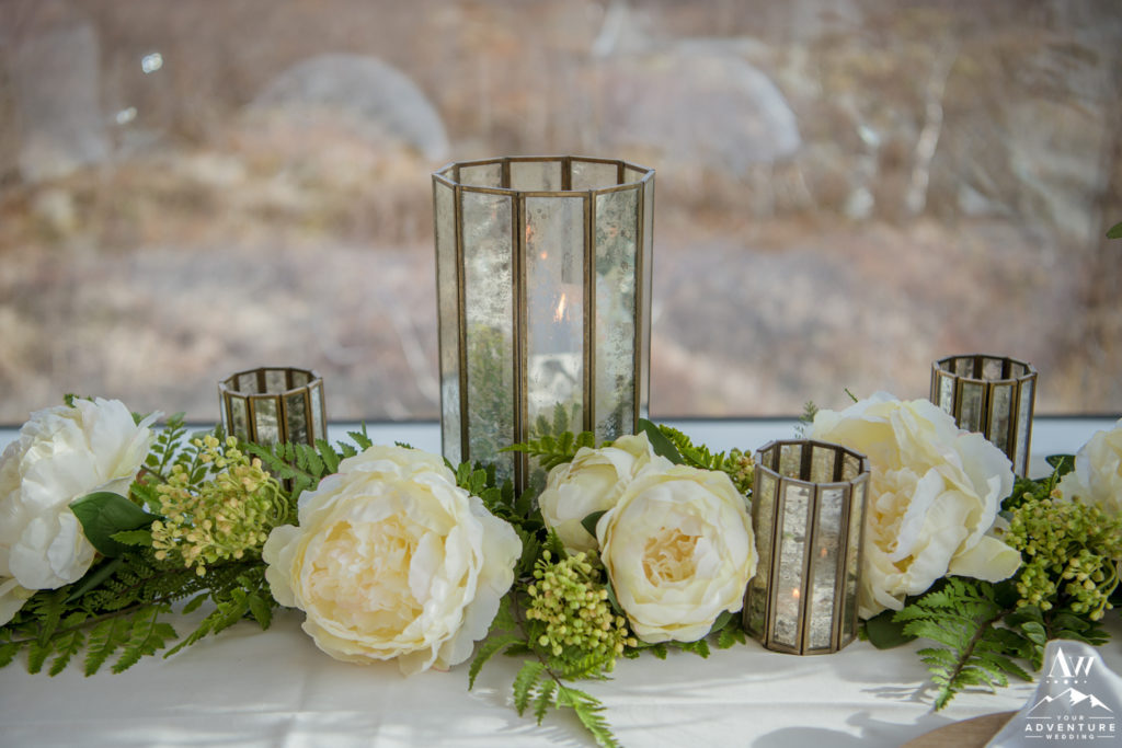 Iceland Wedding Reception Details Peonies