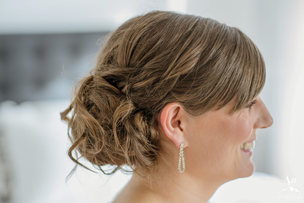 Iceland Elopement Wedding Hairstyle