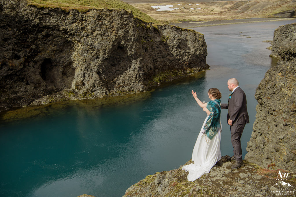 Rock Unity Ceremony during Iceland Wedding
