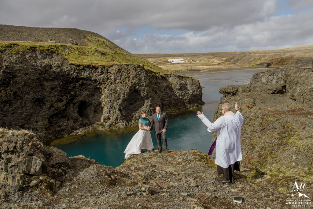 The final blessing during Iceland Wedding Ceremony