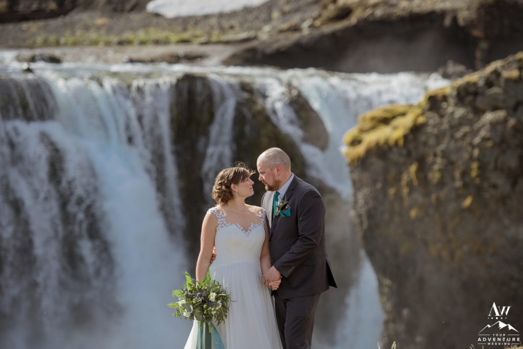 Iceland Wedding Couple Looking at Each Other