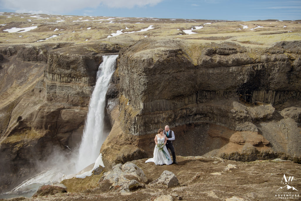 Háifoss Waterfall Elopement Photos