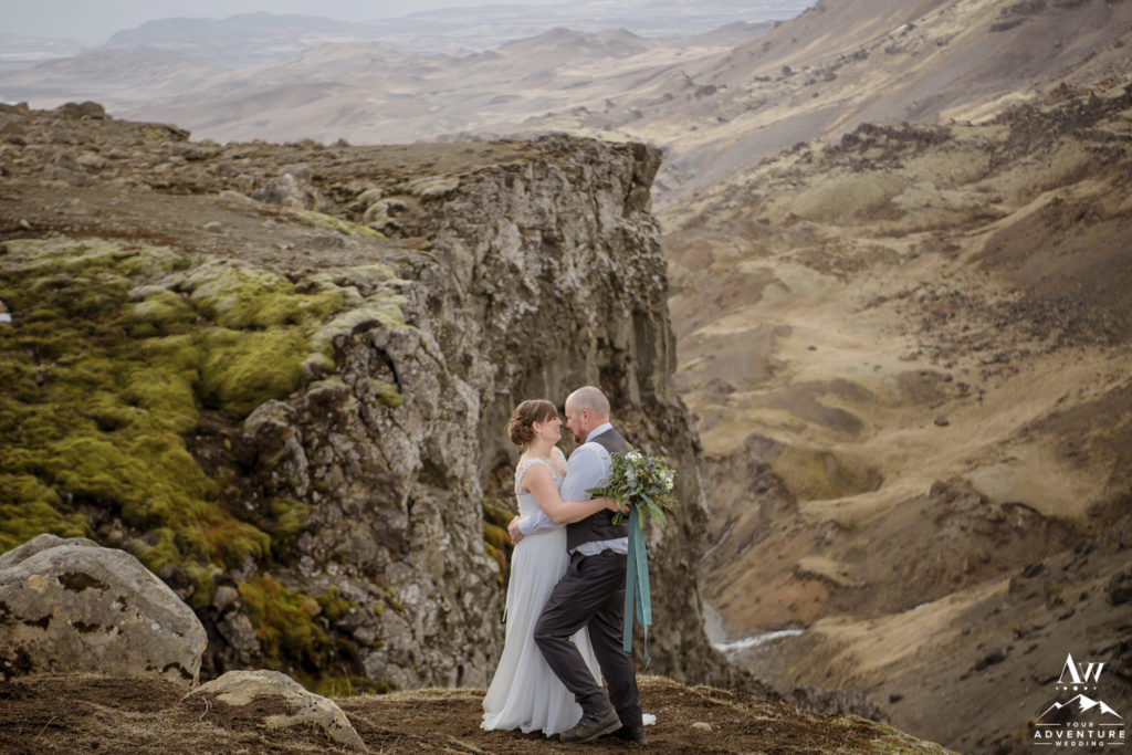 Iceland wedding couple laughing