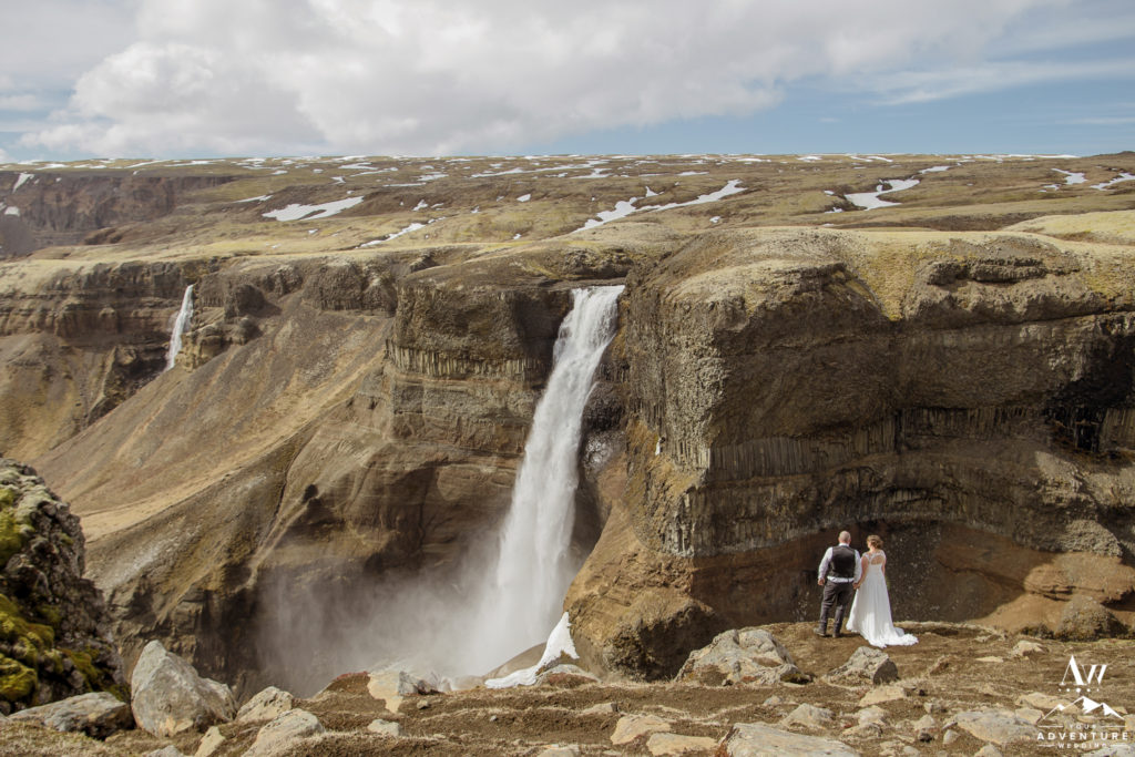 Háifoss Waterfall Wedding Photos