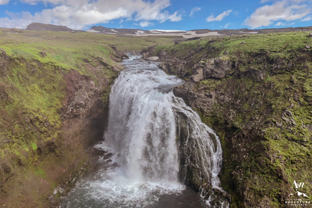 Last Waterfall during Fimmvorduhals Hike in Iceland