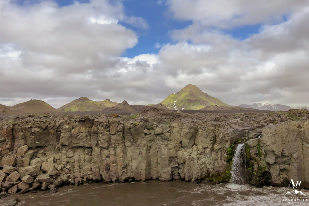 Iceland Highland Wedding Location Private Waterfall