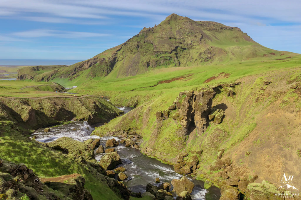 The start of the Fimmvorduhals Hike in Iceland