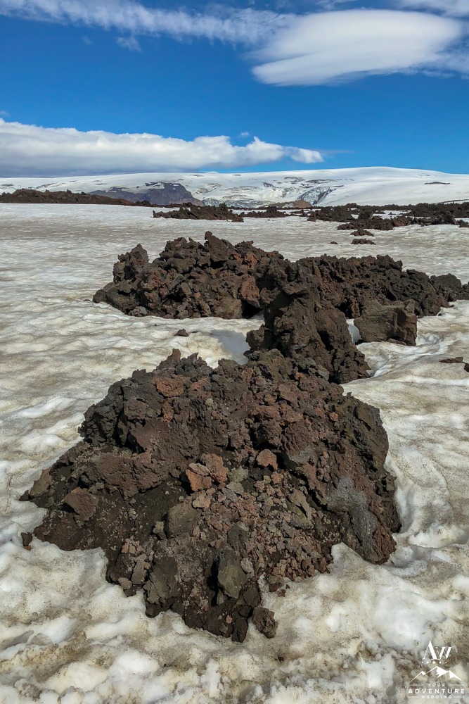 New Lava created from Iceland Eruption on Fimmvorduhals Hike: