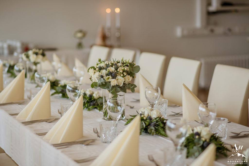 Iceland Wedding Reception at Northern Lights Inn