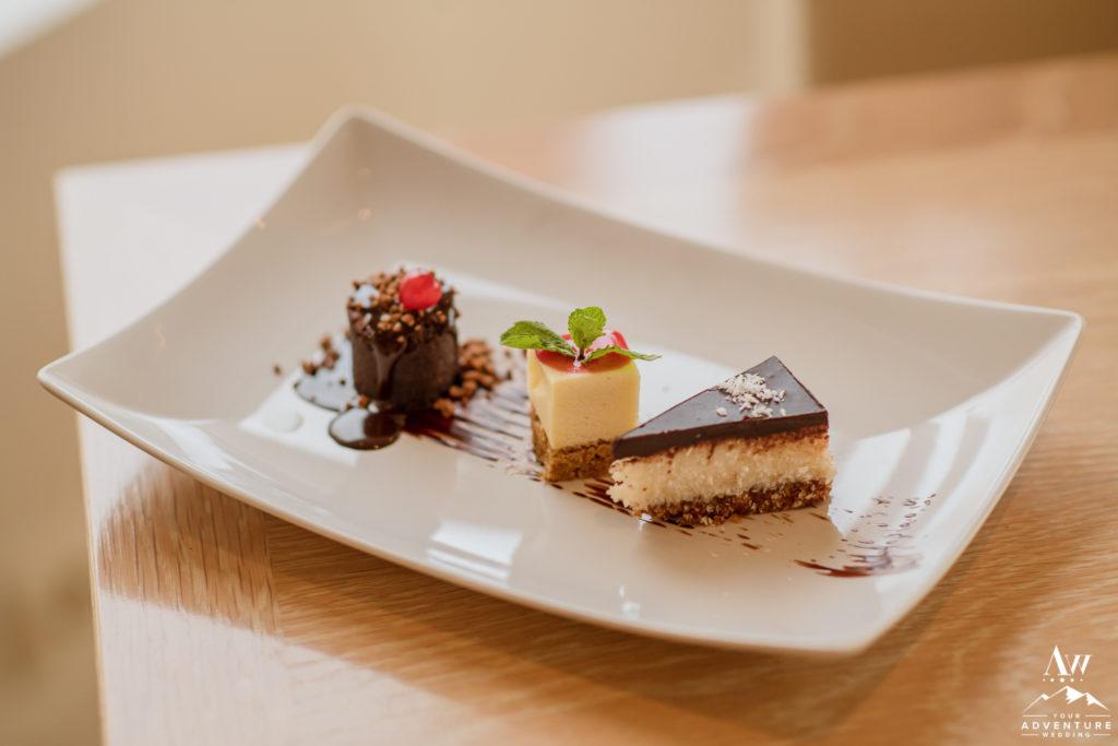 Iceland Wedding Dessert Trio at Northern Lights Inn