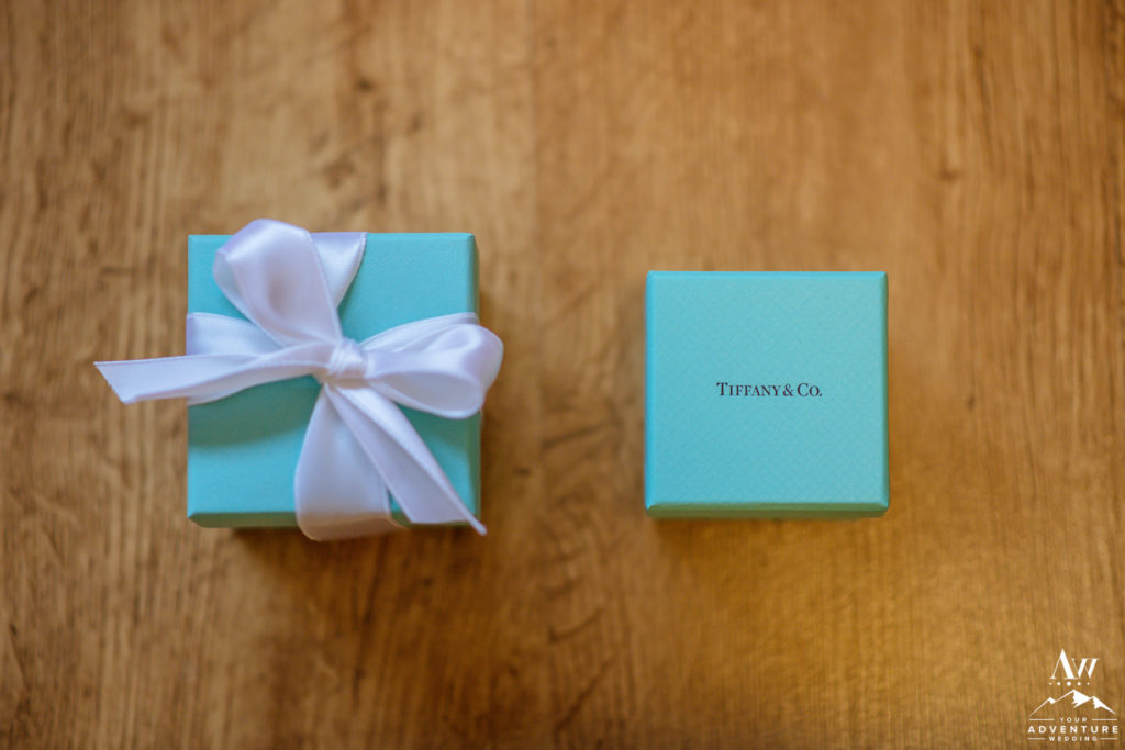 Tiffany's Ring Box for Iceland Wedding Couple
