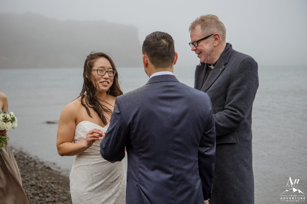 Rainy Iceland Wedding Day at a lake
