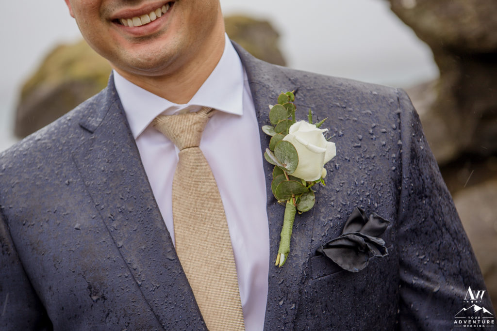 Iceland Wedding Groom Buttonhole
