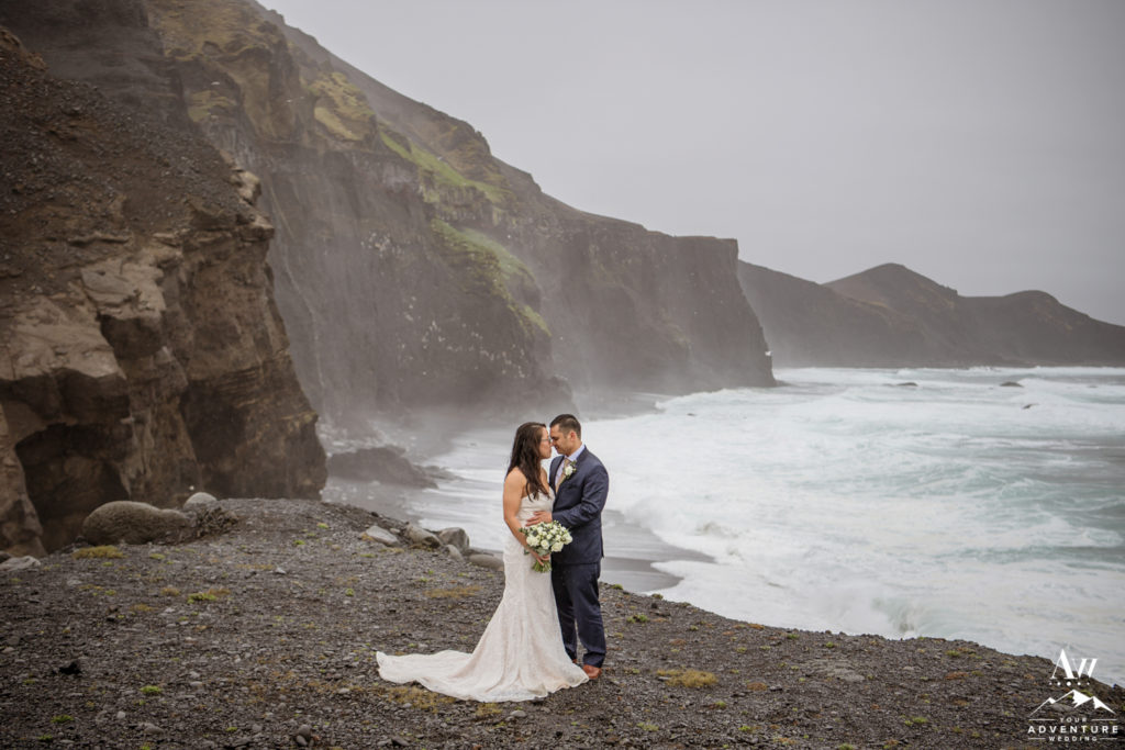 Romantic Iceland Rainy Wedding Day Photos