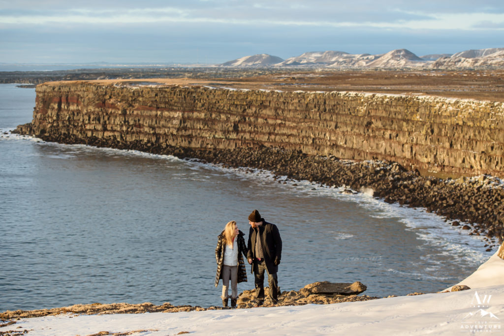 Iceland Engagement Session in January on New Years Day
