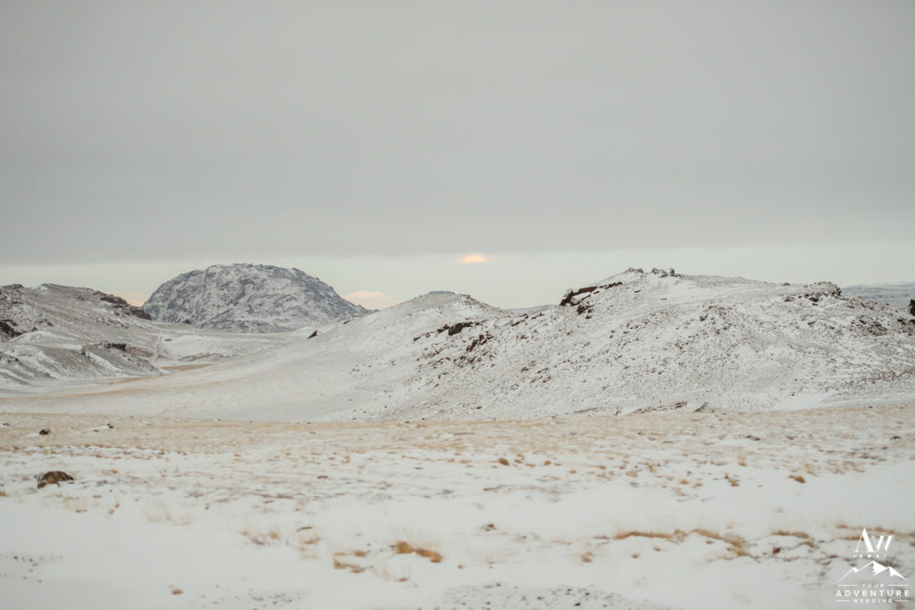 Iceland landscape on New Years Day January