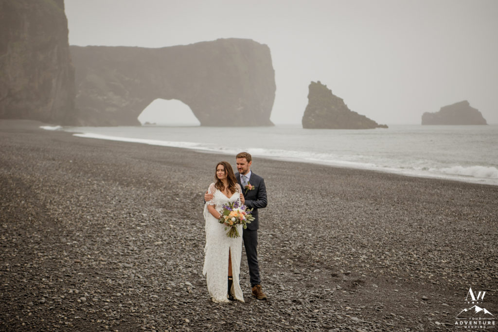 Romantic Dyrholaey Sea Arch Wedding Photos