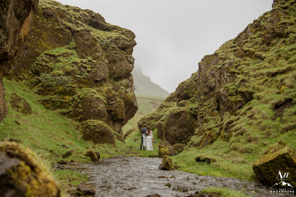 Narrow Canyon Wedding Location in Iceland