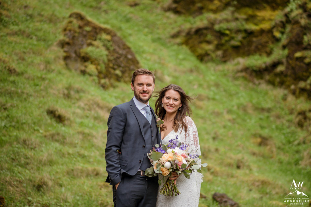 Erin and Julian getting married in Iceland Canyon