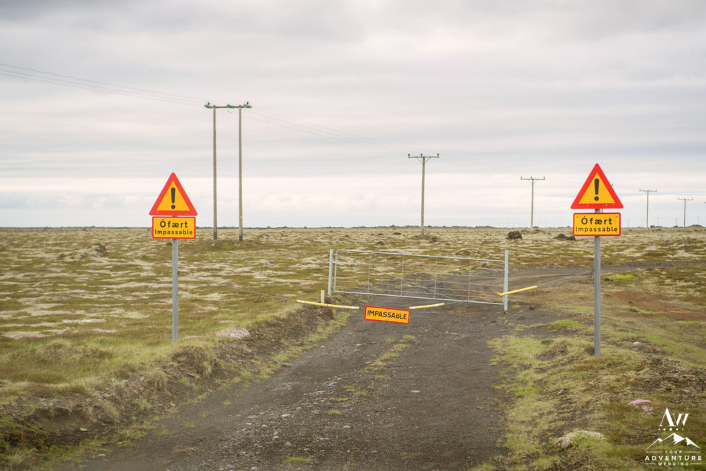 Iceland Super Jeep Wedding Impassable Sign