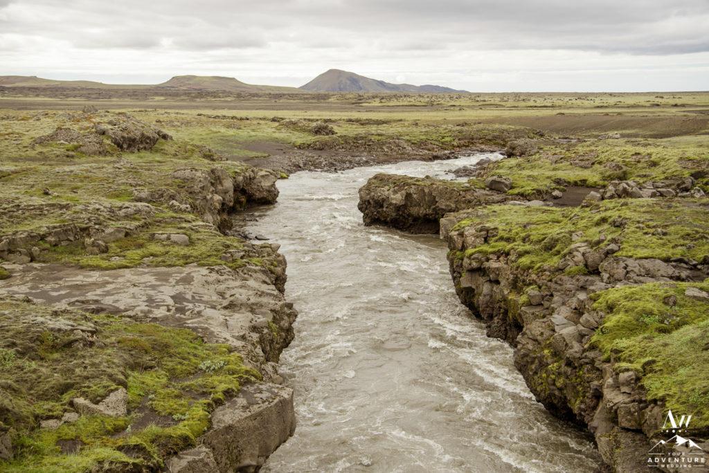 Icelandic Highland Landscapes Glacier River