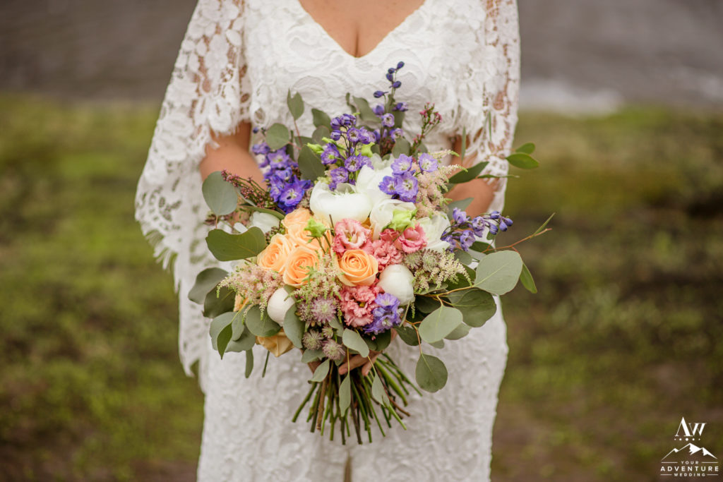 Iceland Florist Bridal Bouquet for Adventure Wedding