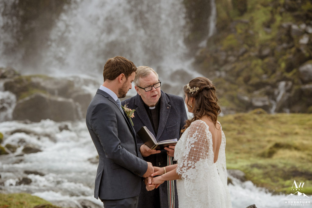 Iceland Wedding Ceremony performed by a Pastor