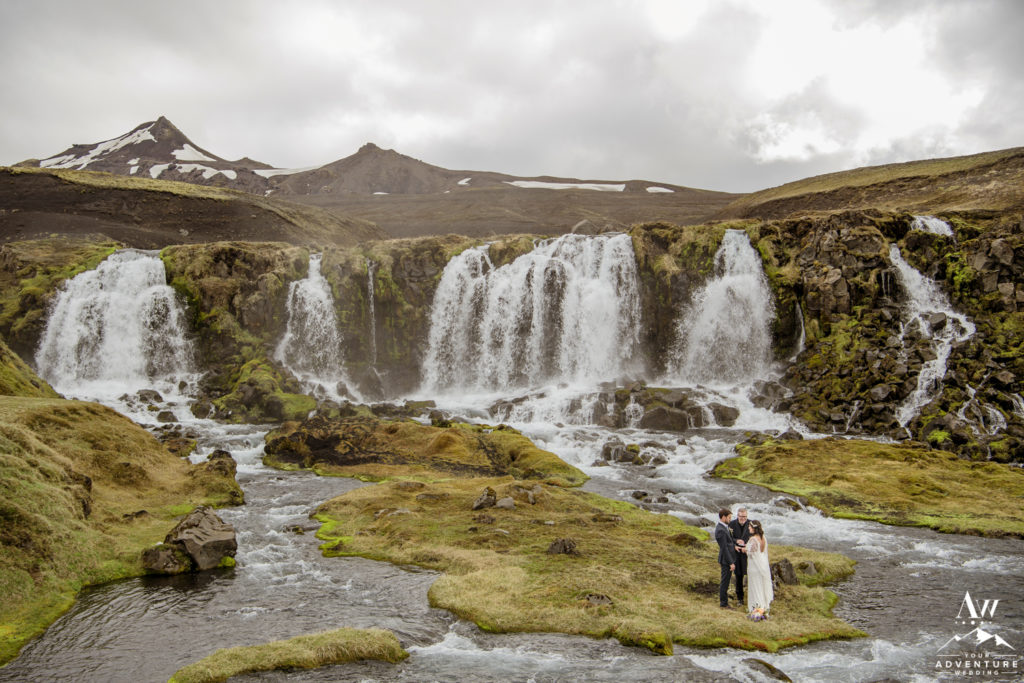 Waterfall Wedding Ceremony at a highland waterfall