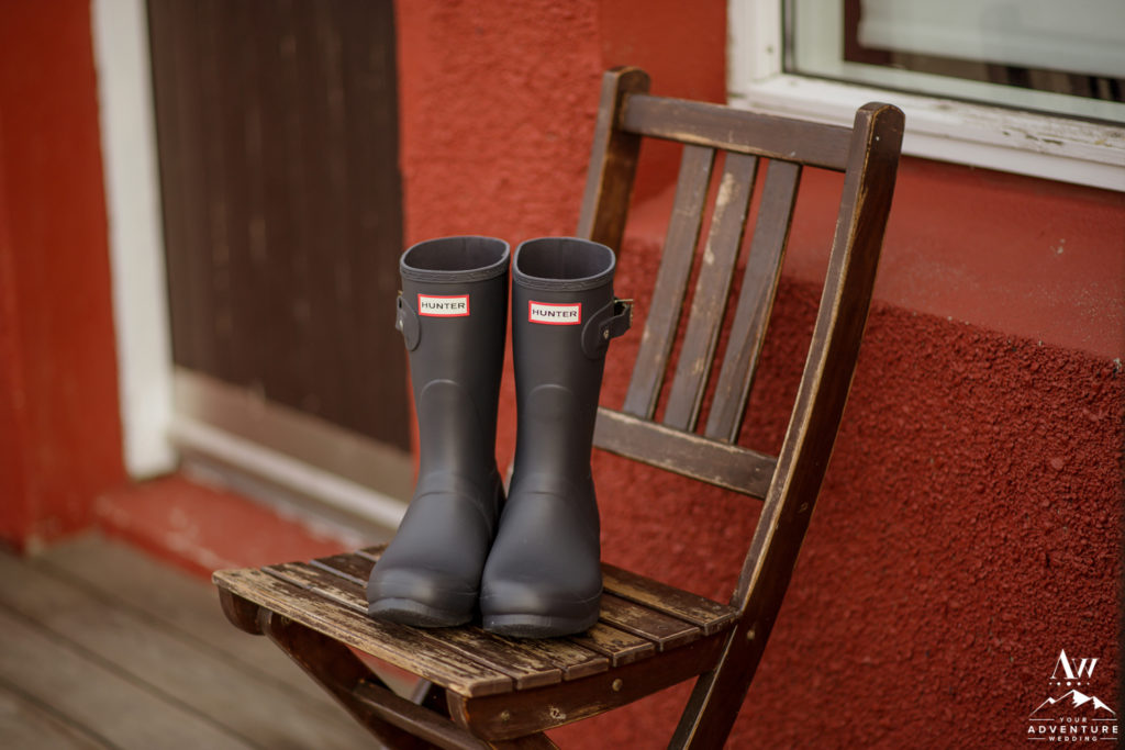 Black Hunter Boots for Iceland Adventure Wedding