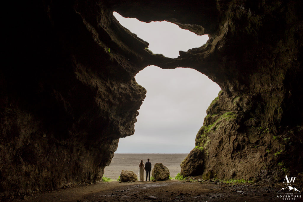 private property location in Iceland hjorleifshofdi cave wedding