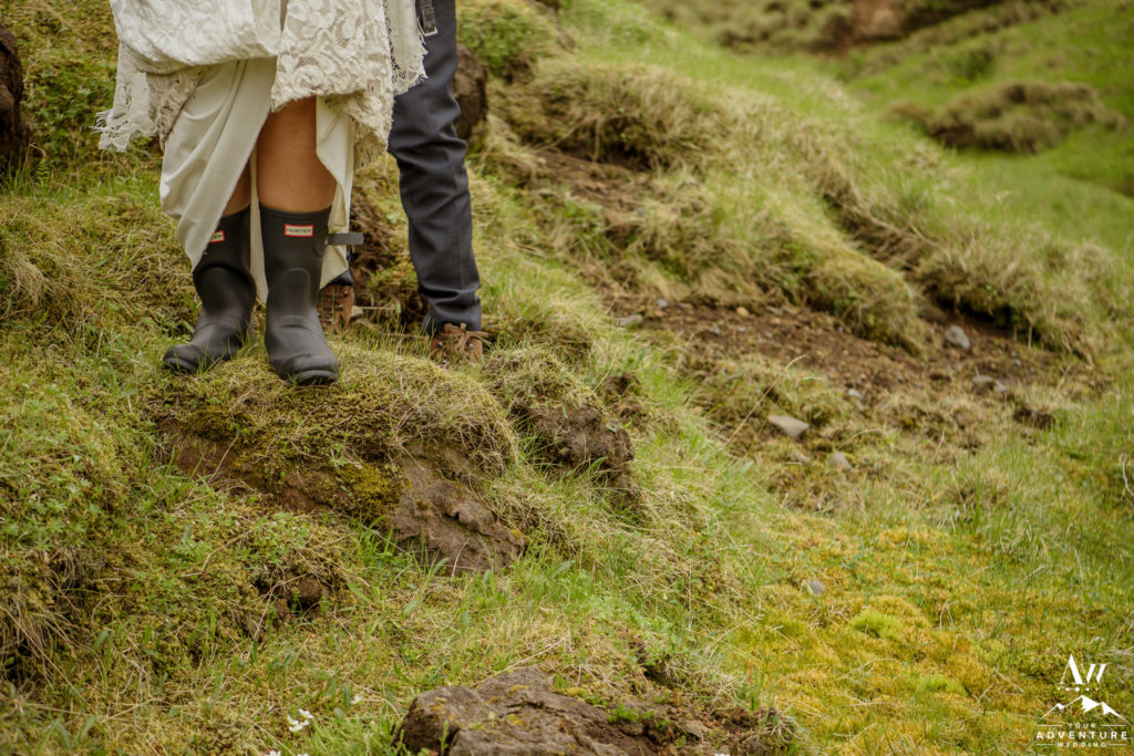 Iceland Wedding Couple Hiking