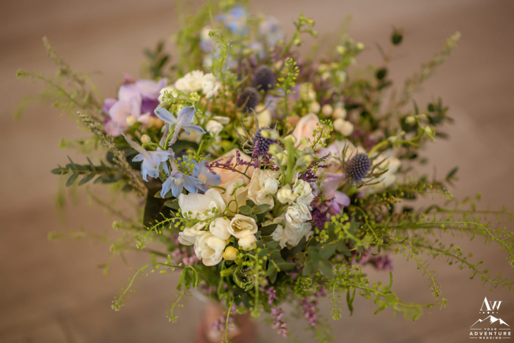 Soft Pastel Colors for Iceland Wedding Bouquet