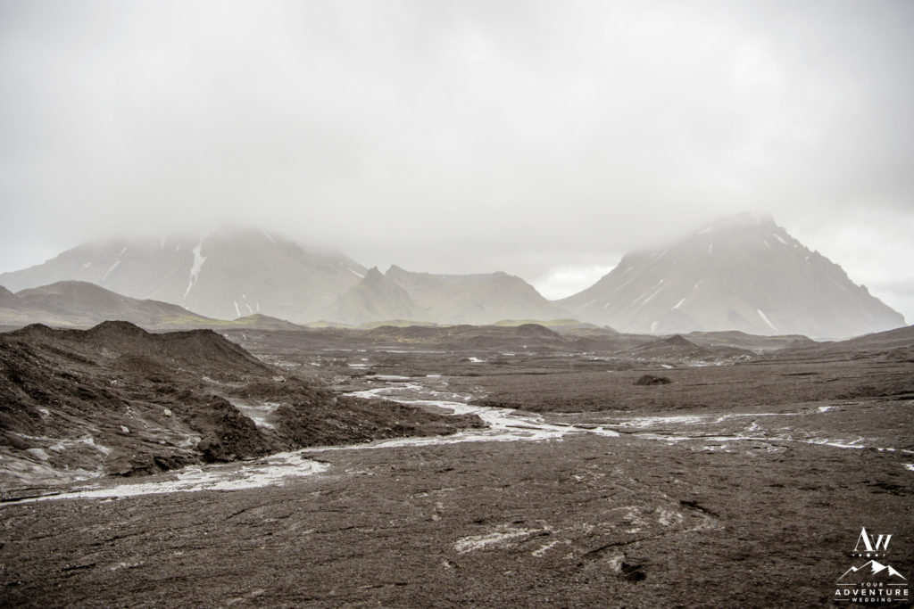 Foggy Icelandic Highland Landscapes