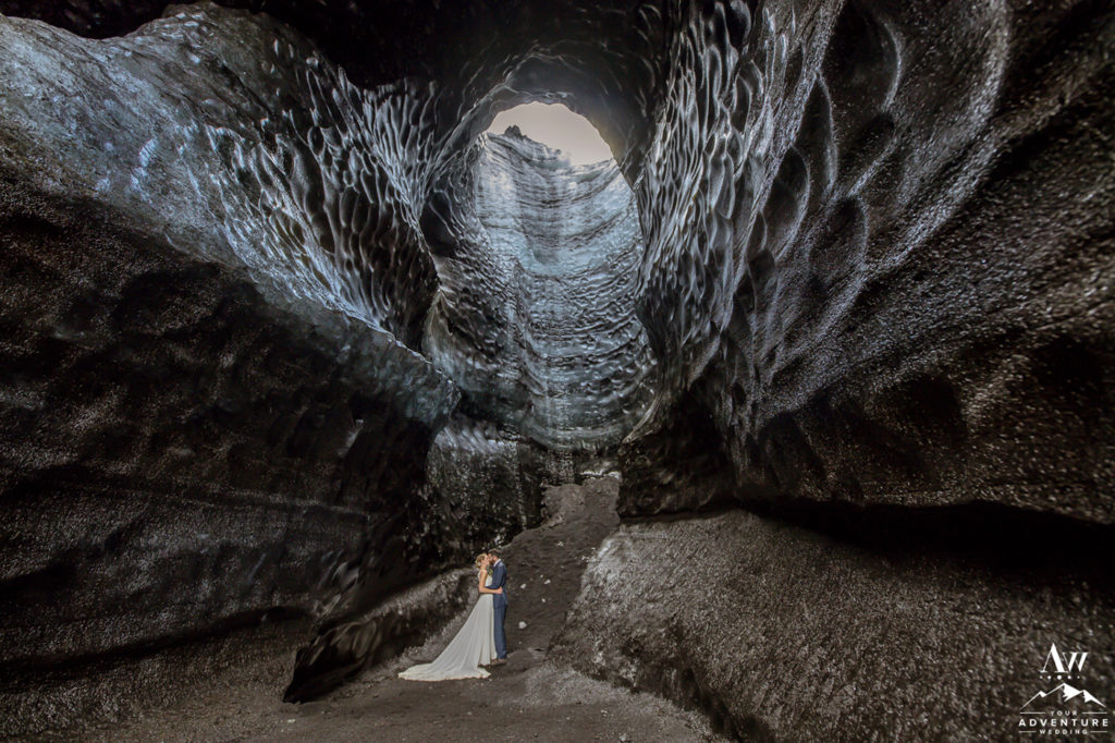 Big Ice Cave Wedding Photos