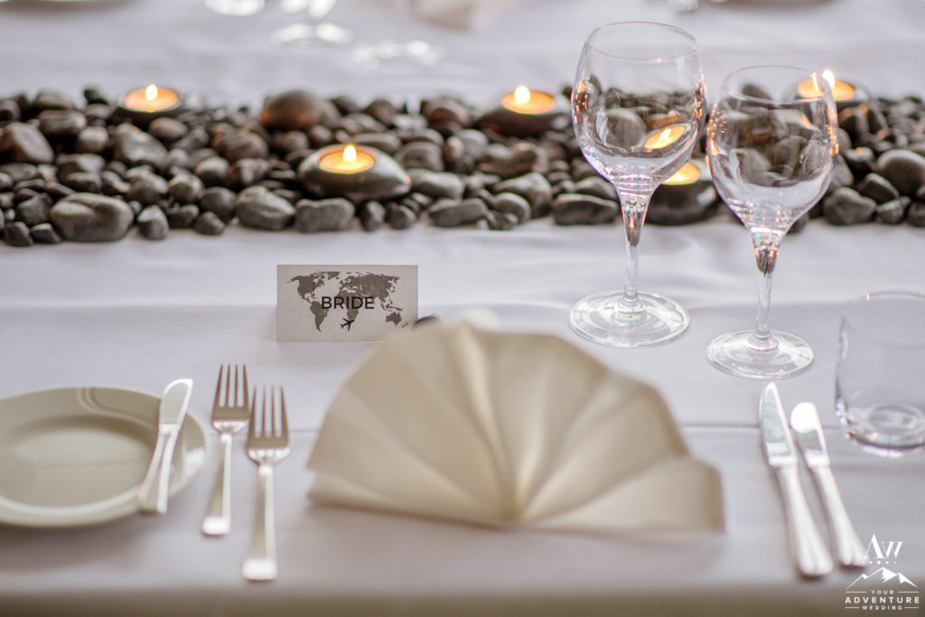 Elegant Setup during Iceland Wedding Reception