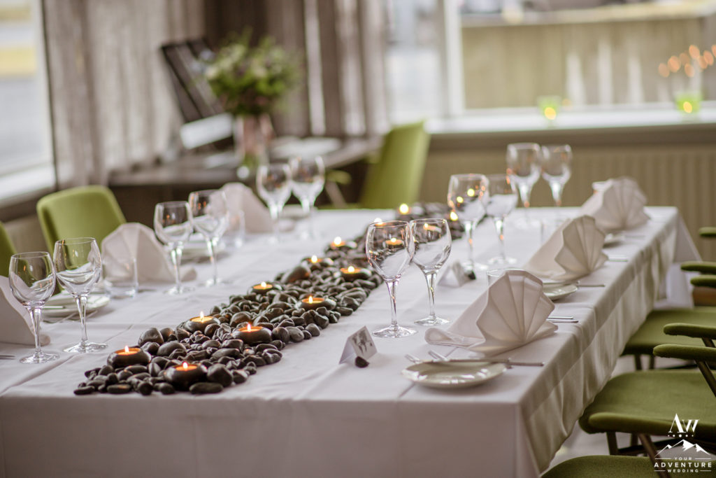Basalt Table Runner Reception Decor for Iceland Wedding
