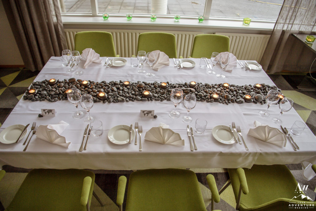 Iceland Wedding Reception Decor SEtup