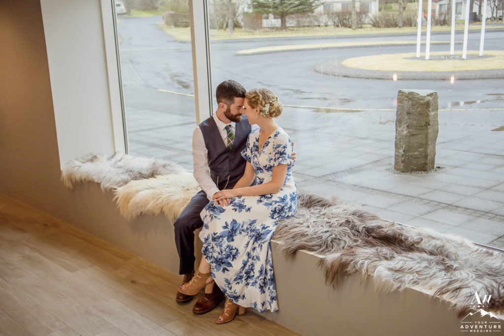 Jacalyn and Michael at their Iceland Wedding Reception