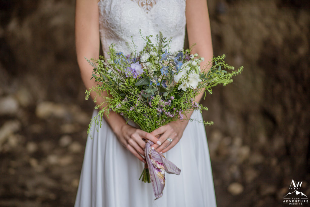 Iceland Wedding Bouquet in Brides Hands