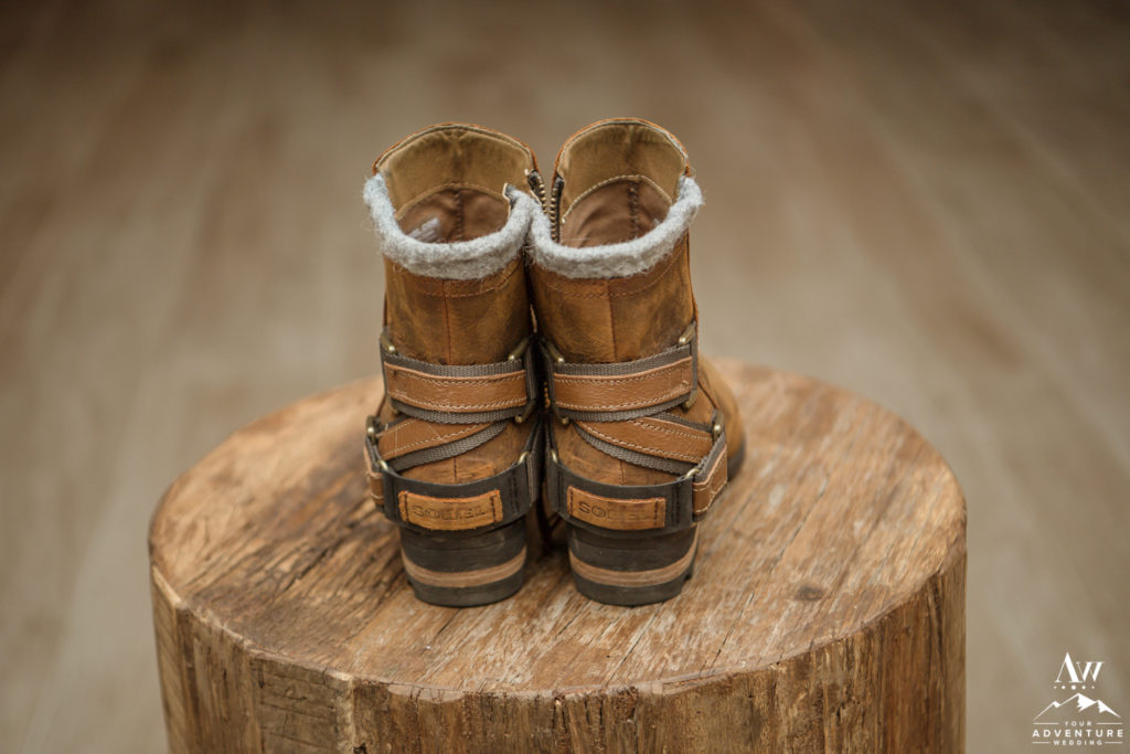 Sorel Boots for Iceland Wedding Bride Details