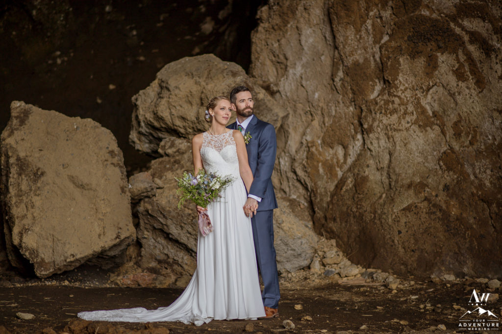 Dramatic Iceland Wedding Photos in a Cave