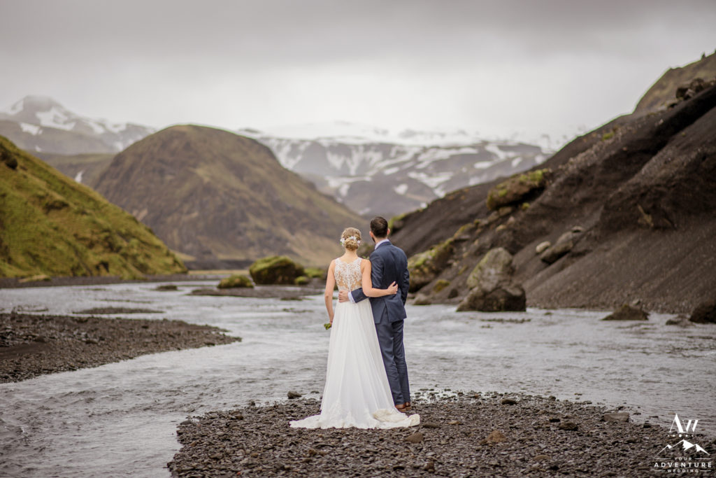 Canyon Wedding Photos in Iceland