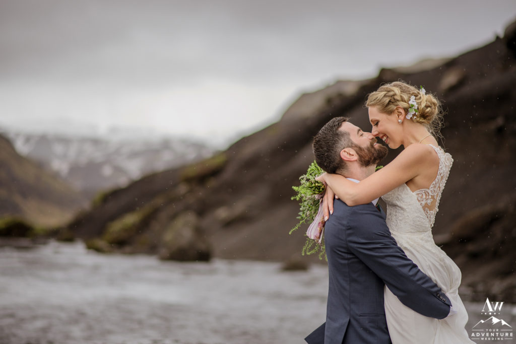 Rainy Iceland Wedding Adventure Photos
