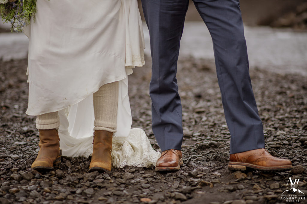 Adventure Wedding Shoes in Iceland
