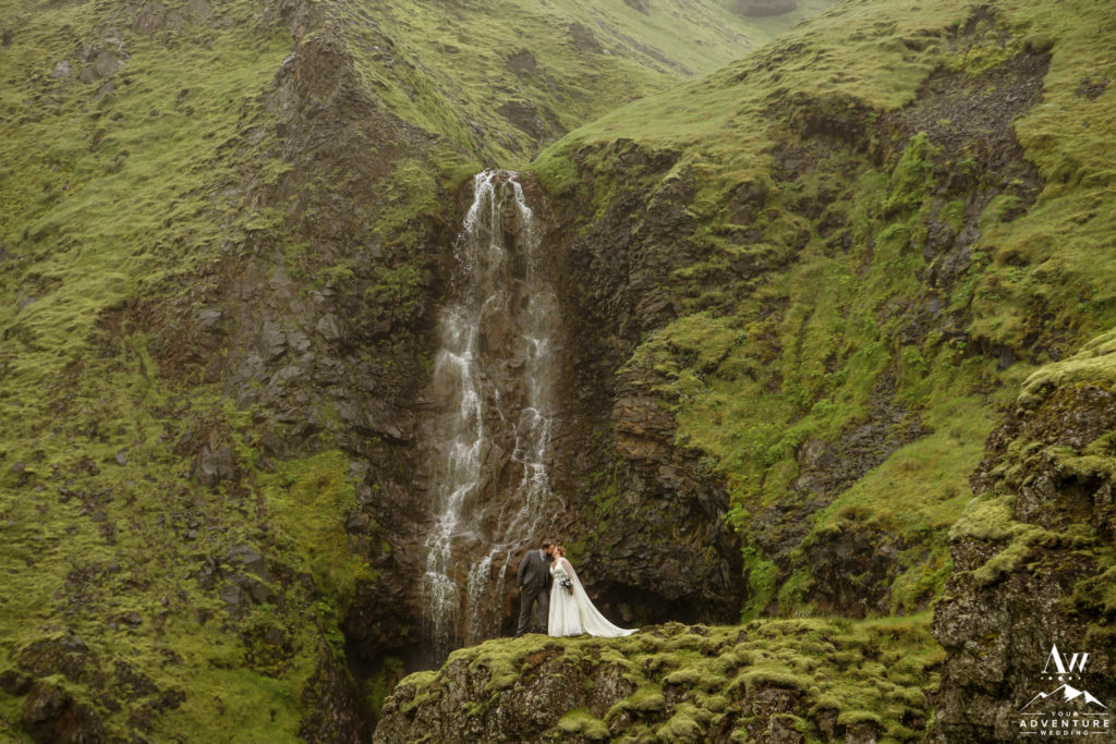 Organic Adventure Wedding at a Waterfall