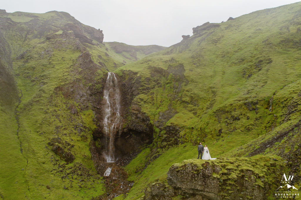Iceland wedding drone photos