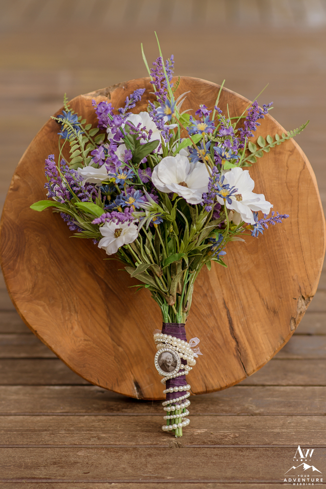 Iceland Silk Flower Wedding Bouquet